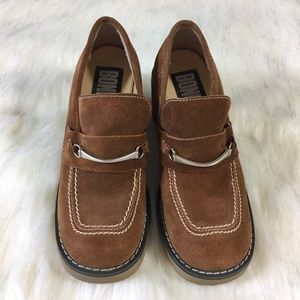 Bongo Brown Suede Loafer Size 6